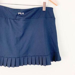 Fila Back Pleated Tennis Skirt Large Navy Flat